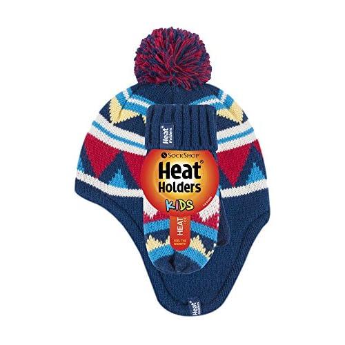 6255684b321 Caliente de la venta Heat Holders - Niño Chico Invierno Colores Térmico  Caliente Orejeras Beanie Gorro