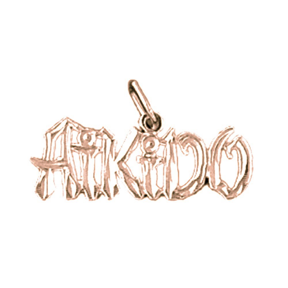 14K Rose Gold-plated 925 Silver Aikido Pendant with 16 Necklace Jewels Obsession Aikido Necklace
