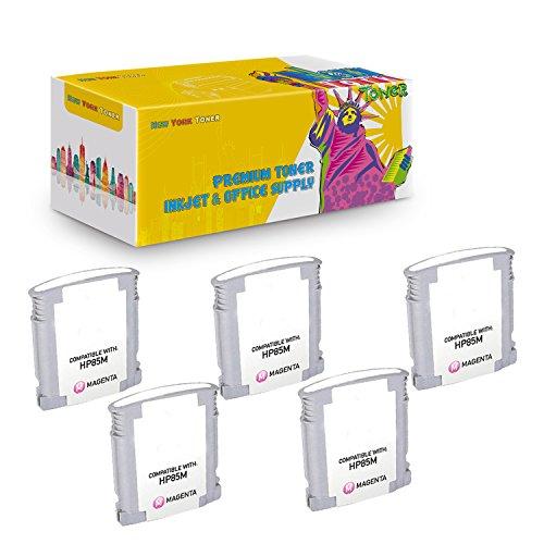 New York TonerTM New Compatible 5 Pack C9429A HP 85 High Yield Inkjet For HP Designjet 30 | 130 . -- Light Magenta