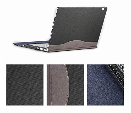 Executive Surface Book Laptop Case, Detachable Protective Flip Case Cover For 13.5 inch Microsoft Surface Book,Gray