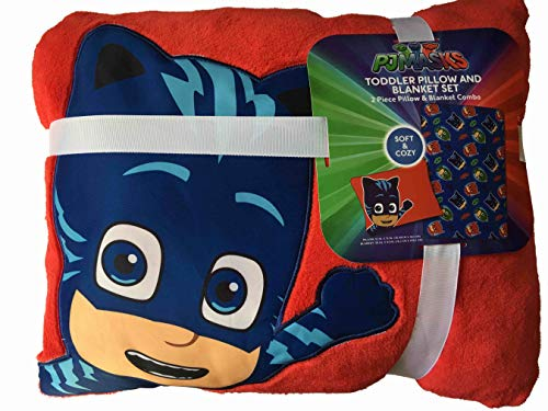 - The Fun House PJ Masks Toddler Pillow and Blanket Set