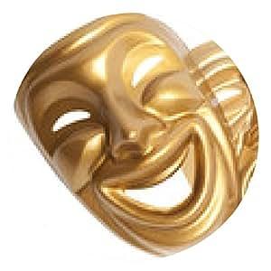alfombrilla de ratón aislado máscara de teatro - ronda - 20cm