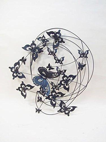 蝶々のアイアン壁飾り ウォールアート 1310-TSF-007 B0179CFMA4
