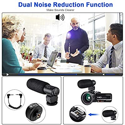 Video Camera Camcorder for YouTube CofunKool Full HD 1080P Vlogging Digital Camera 24.0MP Night Vision 16X Digital Zoom with External Microphone Wide Angle Lens