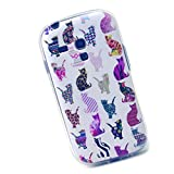 Cuitan Durable TPU Soft Case Cover for Samsung Galaxy S4 Mini i9190, Premium Quality Anti-scratch Back Cover Protective Case Cover Shell Sleeve for Samsung Galaxy S4 Mini i9190 - Multi-colored Cat
