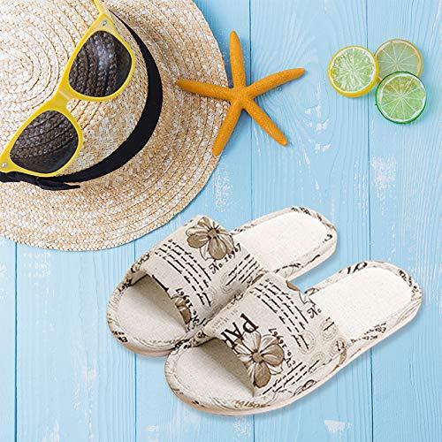 Gris 3 Tissu Chaussons Chaussures Été Pantoufles gris Jungen 3 41 Antidérapant Eu Floral D'intérieur 40 À Épais En Fond Slippers Motif tHRAI