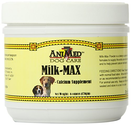AniMed Milk-Max Powder Supplemental Calcium for Dogs, 6-Ounce