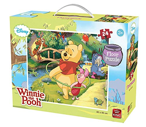 Game Memory Pooh (My First Winnie The Pooh 24 Piece Floor Puzzle for Little Hands Age 2+ King)