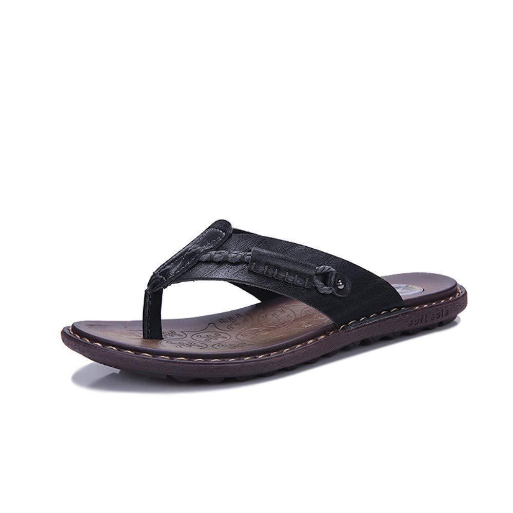 5.5 Uk Yydt Men's shoes Outdoor Sports Flip-Flops Toe Casual Breathable Men's Beach shoes Non-Slip Men's Slippers Men's shoes (color   5.5 UK)