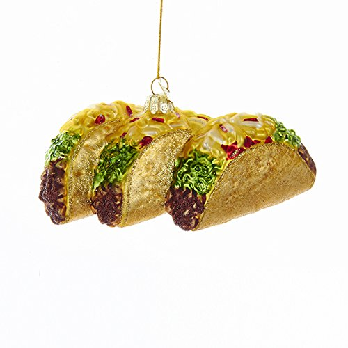 Kurt Adler Noble Gems Tacos Christmas Ornament