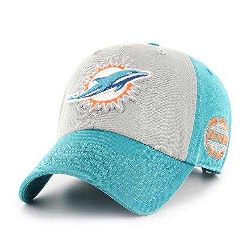 Nfl Miami Dolphins Hat (NFL Miami Dolphins Tuscon OTS Challenger Adjustable Hat, Neptune, One Size)