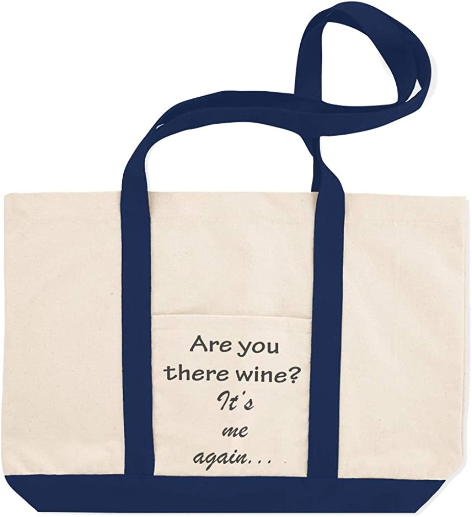 Canvas Shopping Tote Bag Are You There Wine Its Me Again Wine Beach Bags for Women Wine Gifts