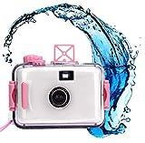 Hometom Waterproof Mini 35mm Film Camera Purple Underwater Cameras (White)