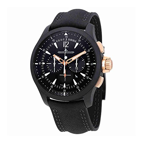 Jaeger LeCoultre Master Compressor Chronograph Black Dial Mens Watch (Jaeger Lecoultre Master Compressor)