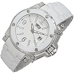 Oniss Paris Men's ON670-M/WT Ceramic Guard High-Tech Ceramic Case Swiss-Quartz Watch