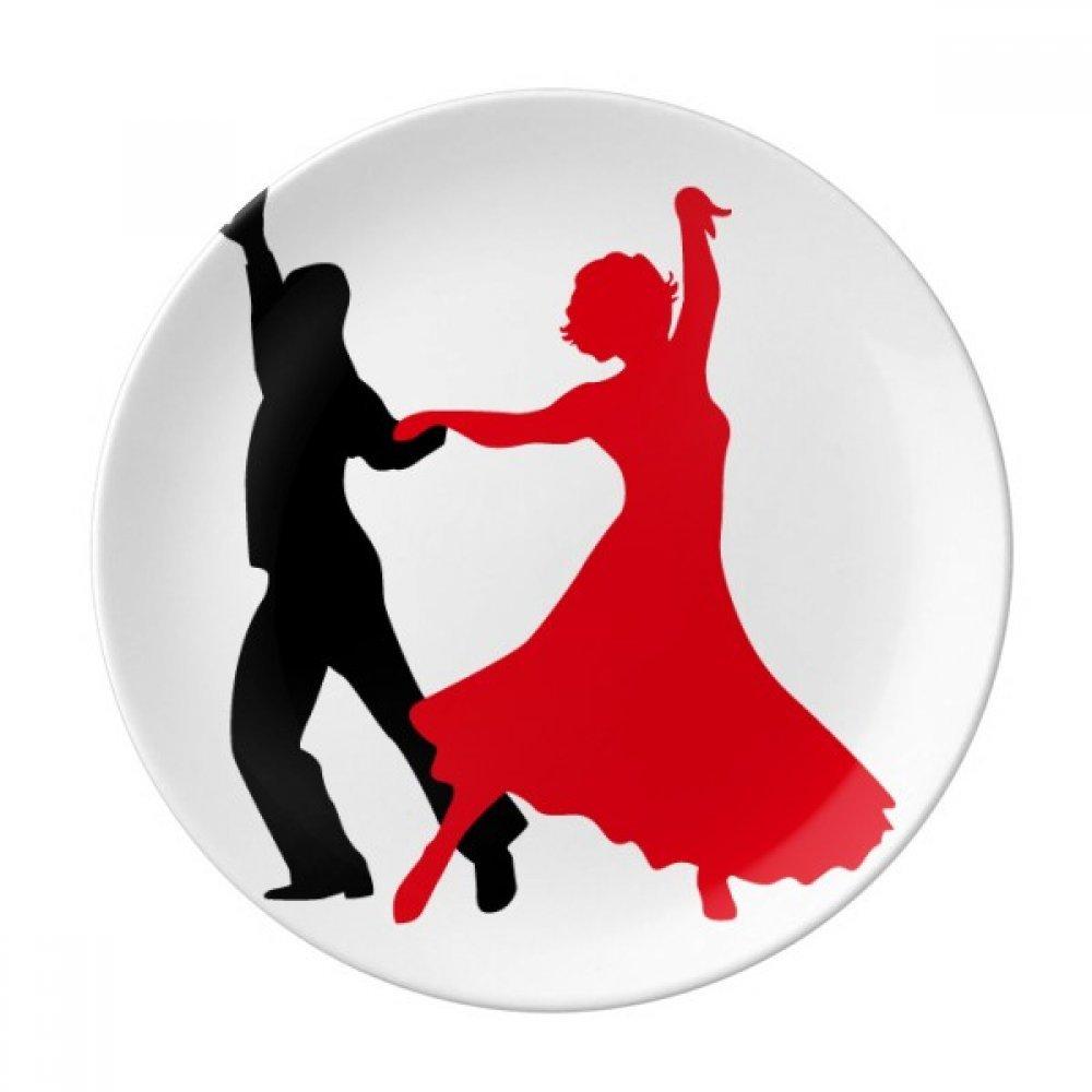 Duet Dance Social Dancing Dancer Dessert Plate Decorative Porcelain 8 inch Dinner Home