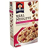Quaker, Real Medleys Cereal, Cherry Almond Pecan, Multigrain, 15.5oz Box (Pack of 4)