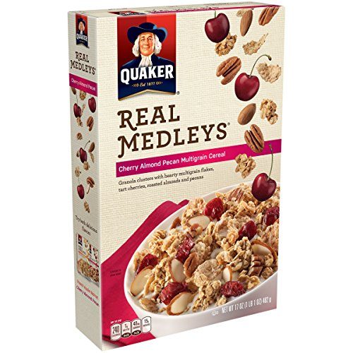 (Quaker, Real Medleys Cereal, Cherry Almond Pecan, Multigrain, 15.5oz Box (Pack of)