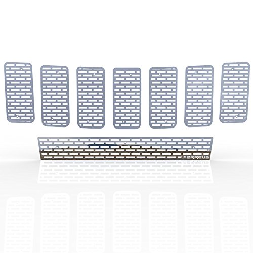 2011-2013 Jeep Cherokee TRK-142-01-Chrome-a Ferreus Industries Grille Insert Guard Horizontal Billet Polished Stainless fits