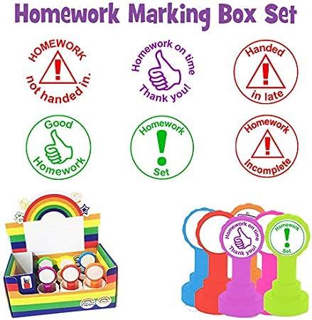 Homework - Set de sellos para profesor 6 sellos: Homework set ...
