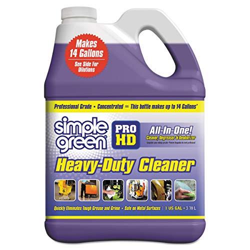 (Simple Green 13421 Pro HD Heavy-Duty Cleaner, Unscented, 1 gal Bottle (Case of 4) (Renewed))