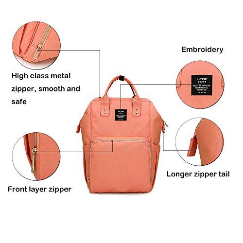 Pañal Mochila toprated momia bolsa de pañales casual estilo calor preservación impermeable mochila rosa rosa rosso