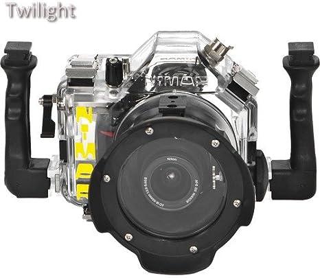Nimar Carcasa submarina para Nikon D5000 DSLR Cámara con Lente ...