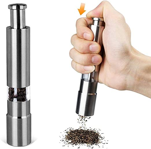 Stainless Steel Salt Pepper Shaker Portable Home Pepper Shaker Kitchen Supply 1p