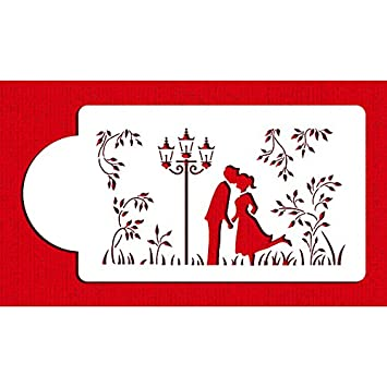 Kissing couple silhouette cake stencils by designer stencils kissing couple silhouette cake stencils by designer stencils sciox Images