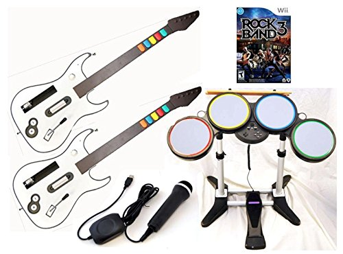Nintendo Wii-U and Wii ROCK BAND 3 Game  - Pilot Pro Remote Shopping Results