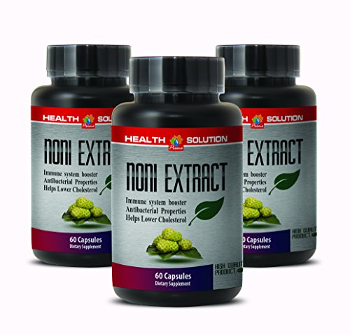 Noni leaf extract - NONI 8:1 CONCENTRATE 500MG - strengthen immune system (3 Bottles) (Fruit Coq10 Tropical)