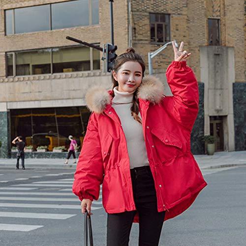 Chemisiers Manteau Version Veste Rouge Vêtements Nouveau Coton Beige Marée De Red Courte En La Femme Noir Coréenne Cape Taille 11BXOw