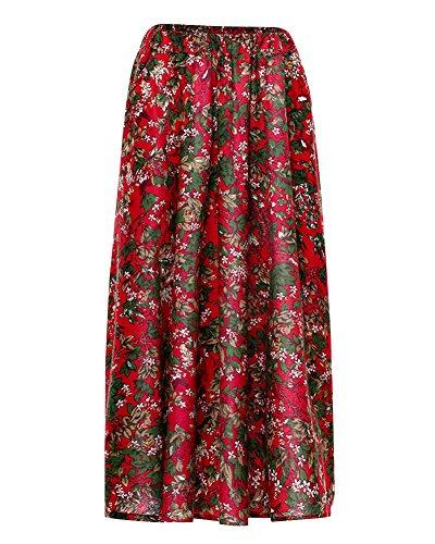 Bohemian Art A t Grand 6 Line Littrature Robe Longue Jupe Et Print Plage Fluide Maxi Femme Retro Swing Jupes Couleur Style Nouvelle z5xwZdZP