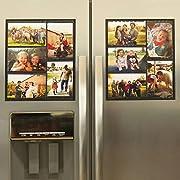 #LightningDeal 84% claimed: Wind & Sea Magnetic Picture Collage Frame  for Refrigerator, 2-Pack, Black