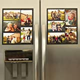 Wind & Sea Magnetic Picture Collage Frame  for Refrigerator, 2-Pack, Black