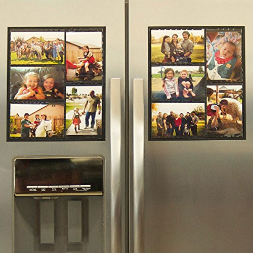 Wind-Sea-Magnetic-Picture-Collage-Frame-for-Refrigerator-2-Pack-Black