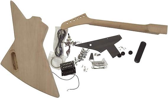 Ensemble en Cou et Noir Pickguard Solide Caisse en Acajou GDEXP1S /à Bricoler Soi-M/ême Guitare /Électrique Kits