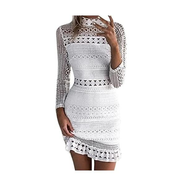 016bb502633 Women Dress JJLOVER Lace Appliques Cold Shoulder Sleeveless Sexy Dress  Elegant Evening Party Bodycon