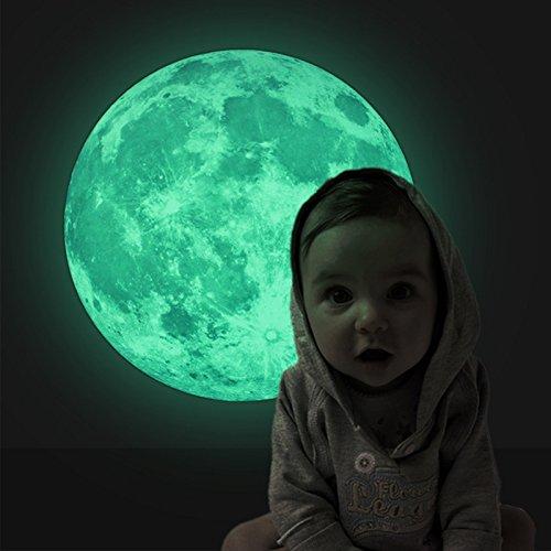 41 opinioni per Luna Fluorescente molto Realistico Fantastico- Adesivi Murali Camera da Letto