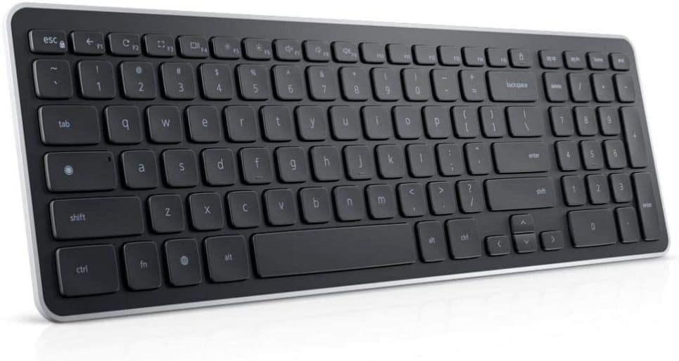 New Compact and Slim DELL KM713 Wireless Chrome Keyboard