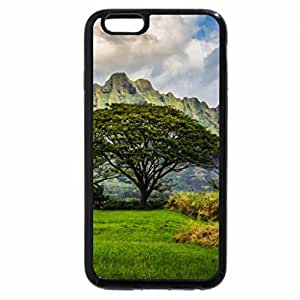 iPhone 6S / iPhone 6 Case (Black) lovely hawaiian mountains