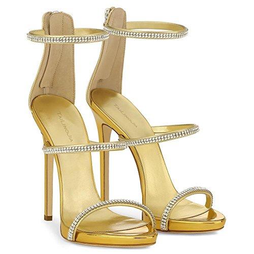 De Amarillo Tacón Mujer Para Alto Verano Primavera Oficina yc champagne Zapatos Y L Yellow Charol Boda HwnqxSfO