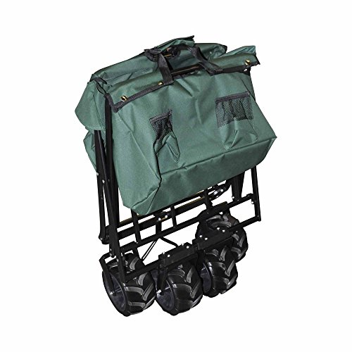 Rocket Offroad RO-UBW-GR All Terrain Collapsible Heavy Duty Folding Utility Wagon Outdoor Cart, Hunter green by Rocket Offroad (Image #2)
