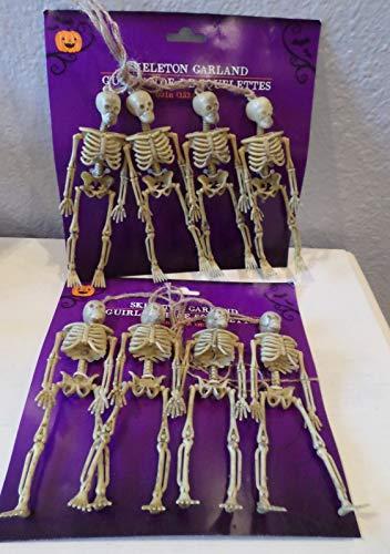 8 Aged Bones Spooky Skeletons Garland Halloween Crafts Jars Props Body Parts