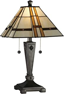 Good Dale Tiffany TT11051 Atherton Table Lamp, Mica Bronze