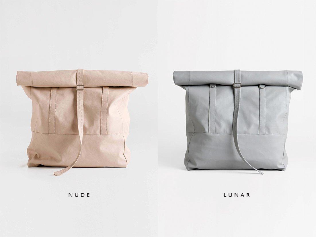 Large Convertible Backpack Tote Bag in Grey, Women Backpack, Lightweight Shoulder Bag - Travel Daypack, PU Vegan Leather Rucksack, Big Shoulder Bag