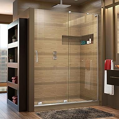 DreamLine Mirage-X 56-60 in. Width, Frameless Sliding Shower Door, 3/8  Glass, Chrome Finish