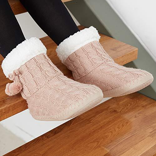 Rosa Invierno Para 1 De Caliente Zapatillas Estar Por mantener Casa RFx8qwC