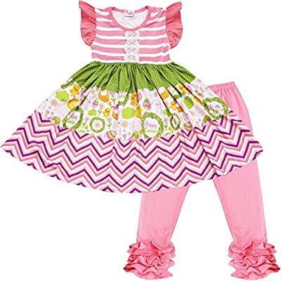 Baby Toddler Little Girls Easter Bunny Persnickety Dress Capri Set