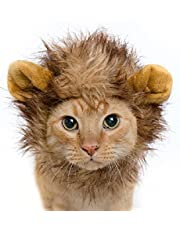 """Pet Krewe Cat Lion Mane Halloween Costume – Fits Neck Size 8""""-14 - Lion Costume for Small Cats and Kittens – Ideal for Halloween, Cat Birthday, Cat Cosplay, Cat Outfits, Pet Clothes"""